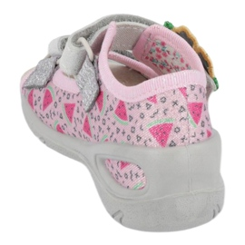 Befado preventieve kindersandalen 065X152 roze zilver 1