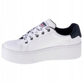 Tommy Hilfiger Iconic Leather Flatform-schoenen van EN0EN01113-YBR wit marine 1