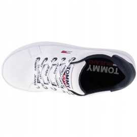 Tommy Hilfiger Iconic Leather Flatform-schoenen van EN0EN01113-YBR wit marine 2