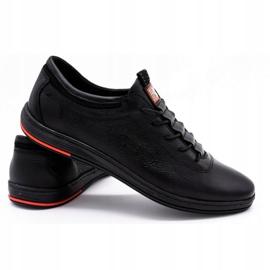 Polbut Leren casual herenschoenen K23 zwart 2
