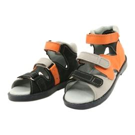 Hoge profylactische sandalen Mazurek 291 grijs oranje 1