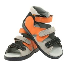 Hoge profylactische sandalen Mazurek 291 grijs oranje 3