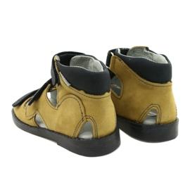 Hoge profylactische sandalen Mazurek 291 grijs oranje geel 2