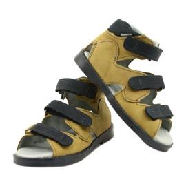 Hoge profylactische sandalen Mazurek 291 grijs oranje geel 3