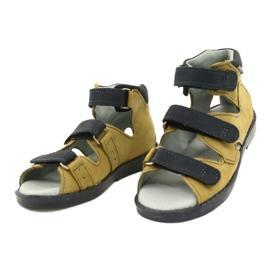 Hoge profylactische sandalen Mazurek 291 grijs oranje geel 1