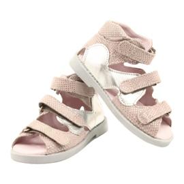 Hoge profylactische sandalen Mazurek 291 roze-zilver 3