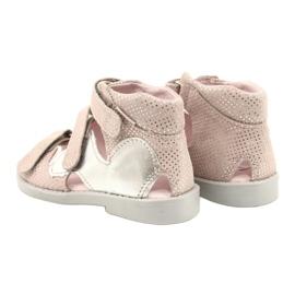 Hoge profylactische sandalen Mazurek 291 roze-zilver 2