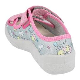 Befado sandaal voor meisjes 869x154 roze zilver grijs 1