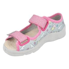 Befado sandaal voor meisjes 869x154 roze zilver grijs 3
