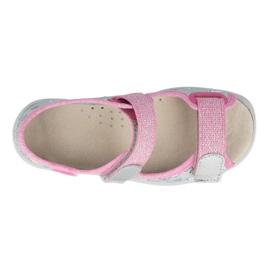 Befado sandaal voor meisjes 869x154 roze zilver grijs 2