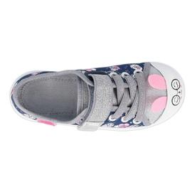 Befado kinderschoenen 251X169 marineblauw roze zilver 1