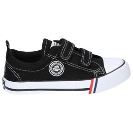American Club Zwarte Amerikaanse LH33 / 21 Velcro sneakers 2