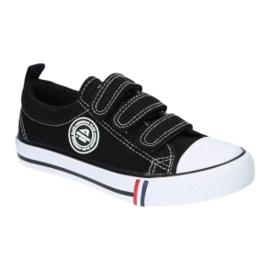 American Club Zwarte Amerikaanse LH33 / 21 Velcro sneakers 4