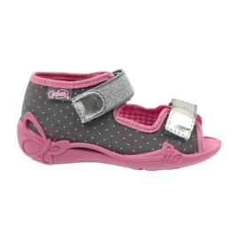Befado kinderschoenen 242P082 roze zilver grijs 3
