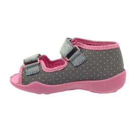 Befado kinderschoenen 242P082 roze zilver grijs 5