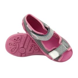 Befado kinderschoenen 242P082 roze zilver grijs 6