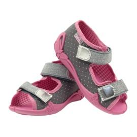 Befado kinderschoenen 242P082 roze zilver grijs 7