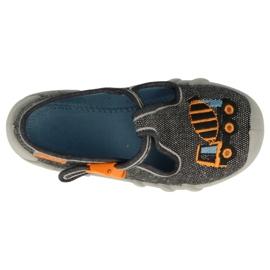Befado kinderschoenen 110P431 oranje grijs 4