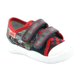 Befado kinderschoenen sneakers slippers 907p093 rood grijs 1