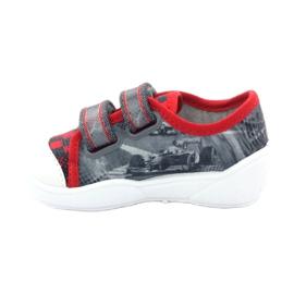 Befado kinderschoenen sneakers slippers 907p093 rood grijs 2