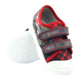 Befado kinderschoenen sneakers slippers 907p093 rood grijs 3