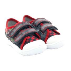 Befado kinderschoenen sneakers slippers 907p093 rood grijs 4