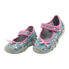 Befado kinderschoenen 109P203 roze blauw 3