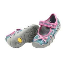 Befado kinderschoenen 109P203 roze blauw 4