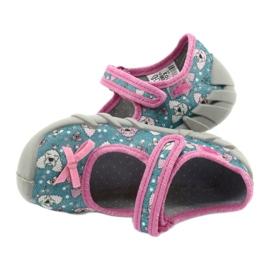 Befado kinderschoenen 109P203 roze blauw 5