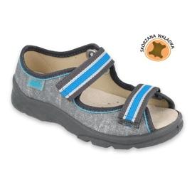 Befado kinderschoenen 869X157 blauw grijs 2