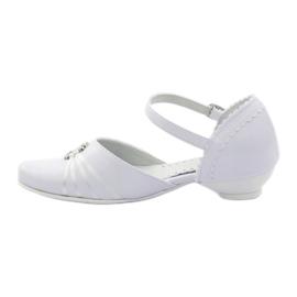 Hoffelijkheid ballerina schoenen Miko 710 wit 2