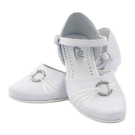 Hoffelijkheid ballerina schoenen Miko 710 wit 3