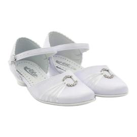 Hoffelijkheid ballerina schoenen Miko 710 wit 4
