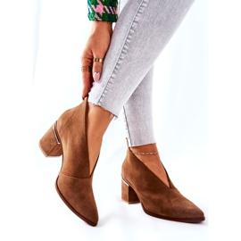 Leren laarzen op hoge hak Laura Messi bruin 2344 6