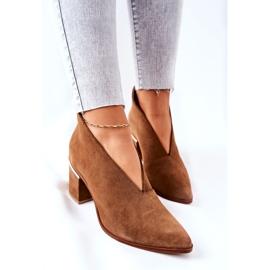 Leren laarzen op hoge hak Laura Messi bruin 2344 1