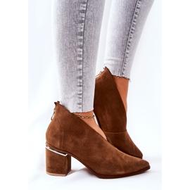 Leren laarzen op hoge hak Laura Messi bruin 2344 2