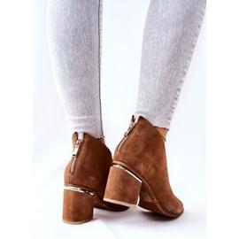 Leren laarzen op hoge hak Laura Messi bruin 2344 3