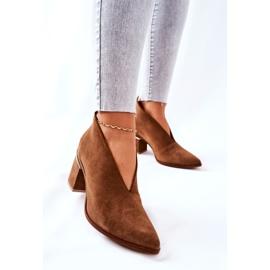 Leren laarzen op hoge hak Laura Messi bruin 2344 4