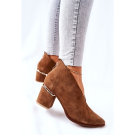 Leren laarzen op hoge hak Laura Messi bruin 2344 5