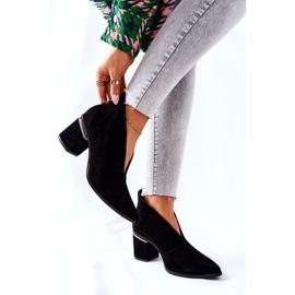 Leren laarzen op hoge hak Laura Messi zwart 2344 6