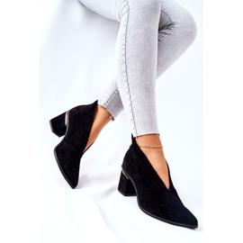 Leren laarzen op hoge hak Laura Messi zwart 2344 2