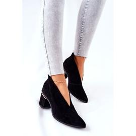 Leren laarzen op hoge hak Laura Messi zwart 2344 1