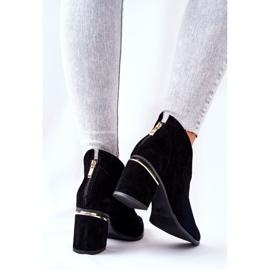 Leren laarzen op hoge hak Laura Messi zwart 2344 3