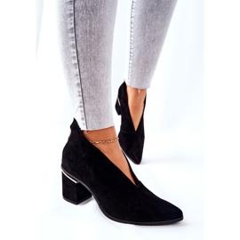 Leren laarzen op hoge hak Laura Messi zwart 2344 5