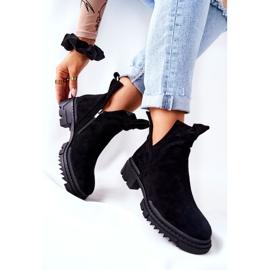 POTOCKI Zwarte Corano-laarzen met uitgesneden rits 3