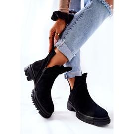 POTOCKI Zwarte Corano-laarzen met uitgesneden rits 5