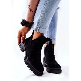 POTOCKI Zwarte Corano-laarzen met uitgesneden rits 6