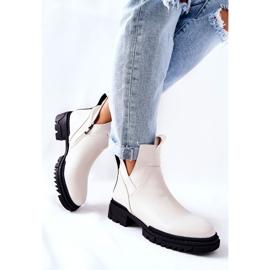 POTOCKI Witte Corano-laarzen met een ritssluiting 3
