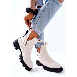 POTOCKI Witte Corano-laarzen met een ritssluiting 6