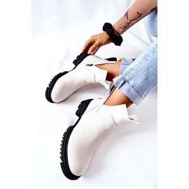 POTOCKI Witte Corano-laarzen met een ritssluiting 1